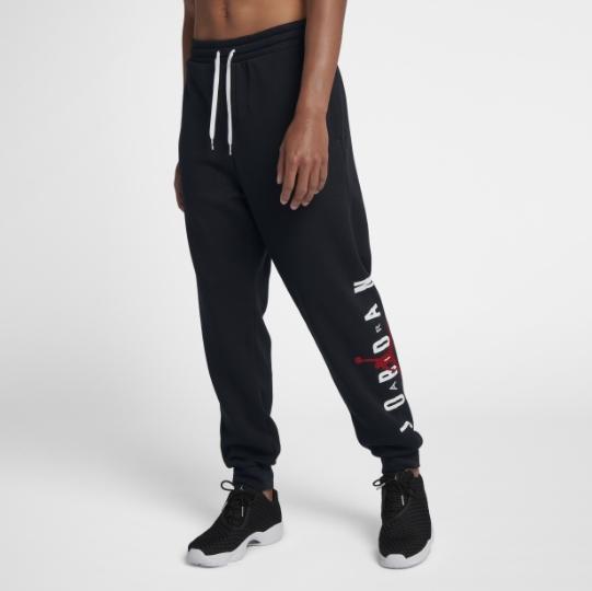 Nike Air Jordan Jumpman 黑 綿長褲 飛人Logo 字母  男 (布魯克林) 2018/10月 AA1455-010