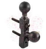 【尋寶趣】煞車/離合器總泵萬向球座-固定式雙球 行車記錄器/相機 機車支架 RAM-B-309-6U