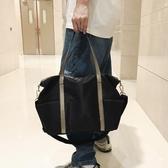 簡約旅游包男手提旅行包大容量防水休閒輕便單肩斜背行李包旅行袋