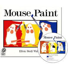 【麥克書店】MOUSE PAINT /英文繪本+CD 《廖彩杏老師推薦書目》