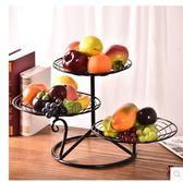 客廳創意家用歐式多層水果蛋糕架水果盆PLL3570【男人與流行】