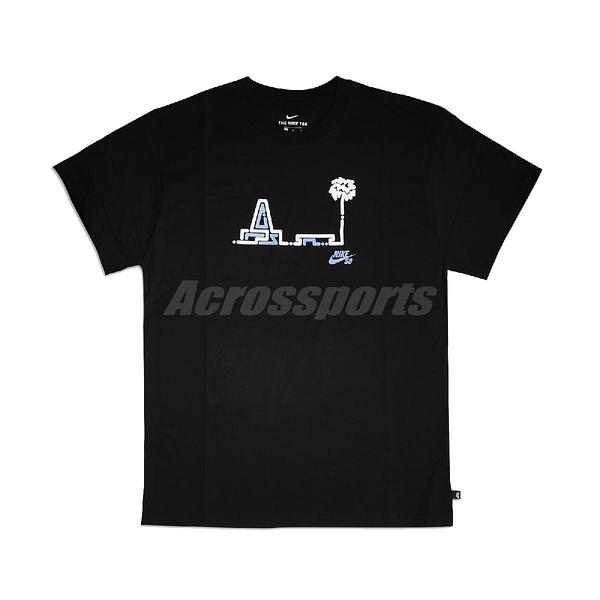 Nike 短袖T恤 SB Skate T-Shirt 黑 白 男款 短T 滑板系列 運動休閒 【PUMP306】 CU0305-010