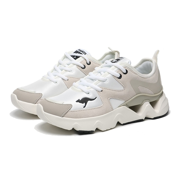 KANGAROOS 休閒鞋 GROOVE II 白灰 拼接 增高 老爹鞋 女 (布魯克林) KW11261