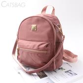 Catsbag|乾燥玫瑰防潑水簡約兩用後背包1143-6