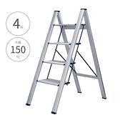 【四階 輕量鋁製家用踏板梯(銀)】4階梯 摺疊梯 人字梯 梯子 家用梯 A字梯 鋁梯