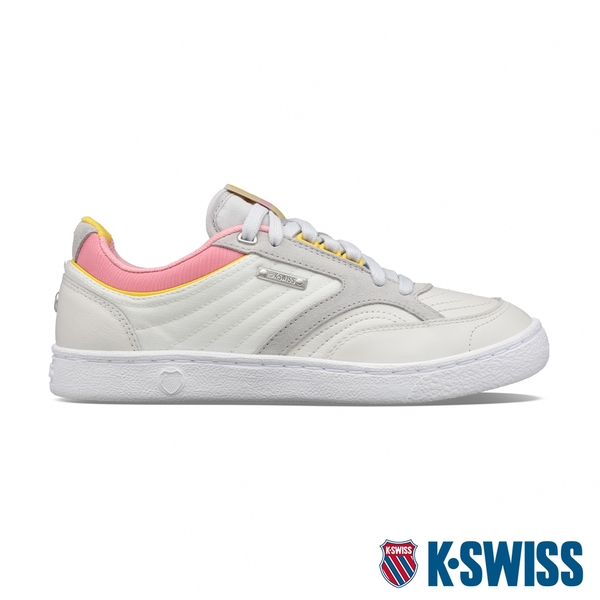 K-SWISS Ambassador Elite時尚運動鞋-女-米白/粉紅/黃