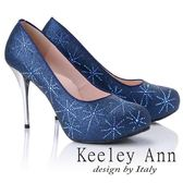 ★2018秋冬★Keeley Ann優雅迷人~水鑽唯美質感真皮軟墊高跟鞋(藍色)