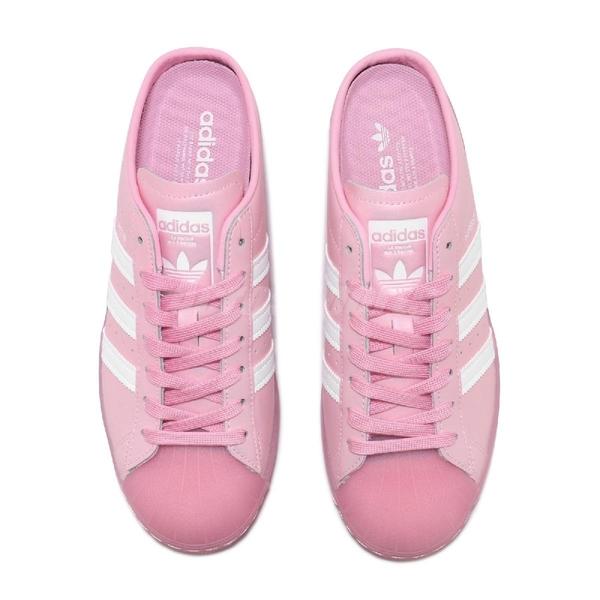adidas 休閒鞋 Superstar Slip-On Mule 粉紅 白 女鞋 穆勒鞋 貝殼頭 運動鞋【ACS】 FX2756