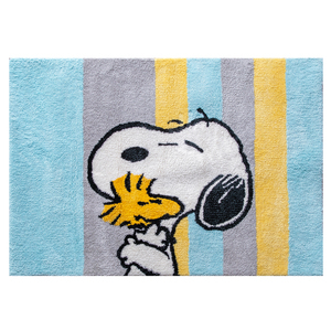 HOLA 史努比 Snoopy 系列 簇絨床邊毯 100x140cm