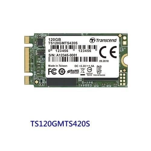 創見 固態硬碟 【TS120GMTS420S】 120GB SATA 3 M.2 2242 SSD 420S 新風尚潮流