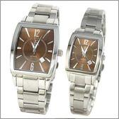 【萬年鐘錶】SIGMA日系 茶色經典時尚對錶 8801M-8801L-8