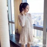 禮服 禮服網紗初戀裙子超仙小香風ins超火的蕾絲洋裝2018春新款女裝 莫妮卡小屋
