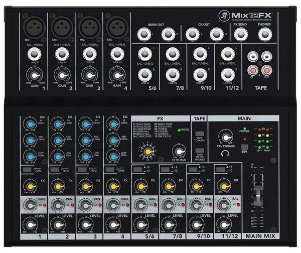 【金聲樂器】Mackie MIX12FX 混音器 混音座 調音台 公司貨