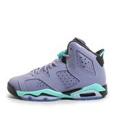 Nike Air Jordan 6 Retro GG [543390-508] 大童鞋 喬丹 經典 潮流 休閒 紫 綠