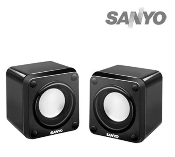 新竹【超人3C】三洋 2.0聲道多媒體USB方塊喇叭(SYSP-6711U) 高傳真身歷聲立體音效 LED電源顯示
