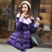 羽絨外套 中長款-韓版淑女修身顯瘦女外套2色72i20【巴黎精品】