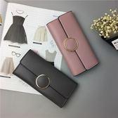 包包 日韓版女士錢包女長款手拿包歐美范簡約卡夾錢夾