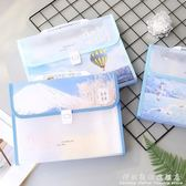 文件袋A4風琴包夾多層學生用試捲收納小清新韓版大容量高中生手提 科炫數位