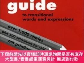 二手書博民逛書店A罕見Writer s Guide To Transitional Words And Expressions