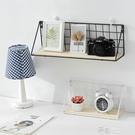 創意墻壁鐵藝日式墻上置物架免打孔衛生間廚房裝飾擱板壁掛架收納 新年禮物