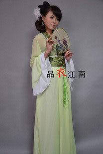 綠色清新靚麗古裝仕女服裝/唐裝漢服/GZ081