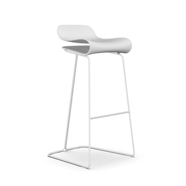 義大利 Kristalia BCN Stool in Tall Size SH76cm BCN 同名系列 金屬椅腳 高腳椅 - 高尺寸款(同色椅腳)