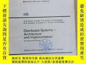 二手書博民逛書店lecture罕見notes in computer science 105 distributed system