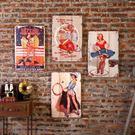 壁掛美式木板畫壁掛咖啡廳酒吧軟裝飾品個性墻面墻上壁飾創意復古墻飾 雙12交換禮物