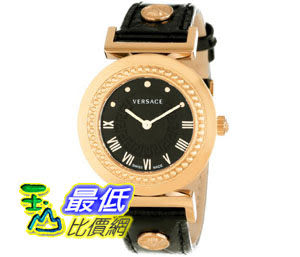 [美國直購禮品暢銷排行榜] Versace Women s P5Q80D009 S009 Vanity Rose Gold Ion-Plated Stainless Steel Leather Ban