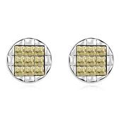 水晶耳環 925純銀耳針式-大方圓形生日情人節禮物女飾品5色73bd214【時尚巴黎】