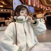 冬季2019新款韓版寬鬆加厚高領仿羊羔毛棉衣棉服女百搭棉襖外套潮 雙12