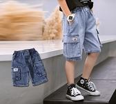 大口袋雪花牛仔短褲 丹寧 春夏童裝 男童短褲 男童牛仔短褲 男童牛仔褲 男童褲子