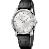 Calvin Klein CK Infinity 都會簡約腕錶-銀x黑/42mm K5S311C6