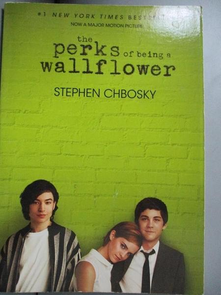 【書寶二手書T1/原文小說_OOT】The Perks of Being a Wallflower_Chbosky, Stephen