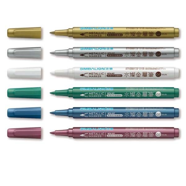 【雄獅】水燦金屬筆~幫您創造璀璨亮彩新風格!!~6色組