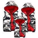 兒童羽絨棉馬甲男童女童加厚保暖背心中大童迷彩坎肩兩面穿秋冬潮 小山好物