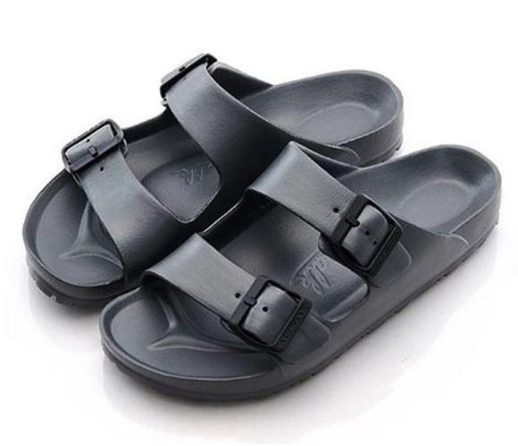 AIRWALK 男女款戶外休閒涼拖鞋 銀灰-NO.A755220116