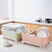 碗櫃  帶蓋放碗架裝碗筷架子收納箱 廚房盤子收納盒瀝水架收納架 小天後