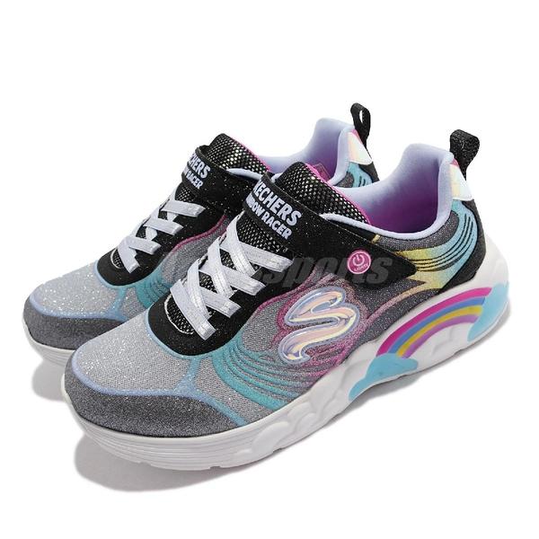 Skechers 燈鞋 S Lights-Rainbow Racer-NOVA BLITZ 彩虹 發光鞋 童鞋 小朋友【ACS】 302309-LBKMT