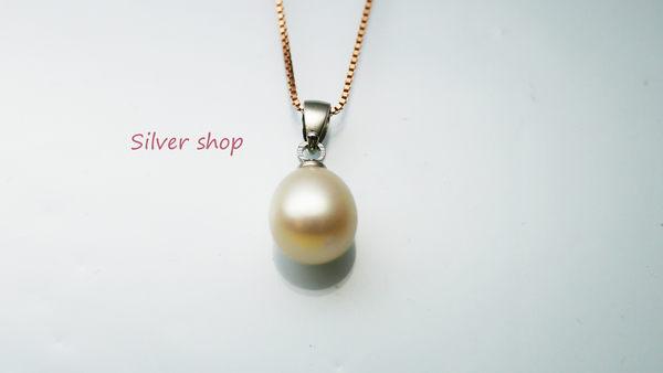 ╭☆ Silver shop ☆╯淡水珍珠 銀飾材質 單墜 不含鍊 [ pp 002 ]