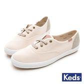 Keds CHAMPION 機能防潑水拼接休閒鞋 女鞋 - 象牙白 84W122650