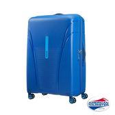 AT美國旅行者 28吋Skytracer飛機輪硬殼嵌合式TSA行李箱(亮藍)