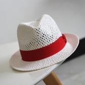 新款爵士禮帽男女情侶鏤空季小禮帽手編草帽簡約英倫帽子【快出】