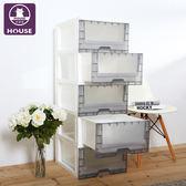 【HOUSE】無印風-透明黑-5抽收納櫃130L(DIY簡易組裝)
