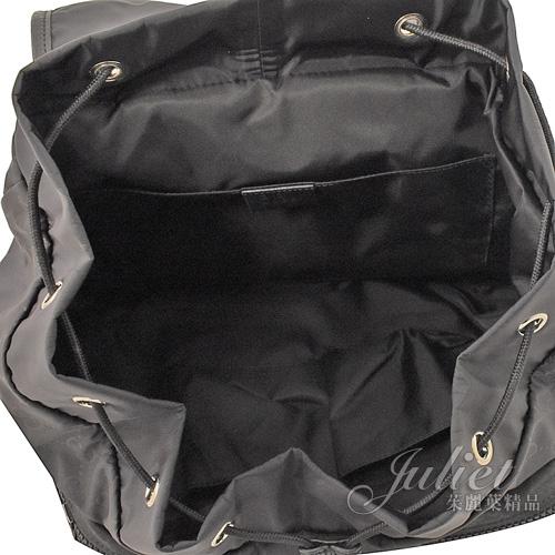 茱麗葉精品【全新現貨】GUCCI 510343 經典雙G緹花尼龍扣式後背包.黑