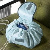 ◄ 生活家精品 ►【P356】印花懶人化妝包化妝包 抽繩 便攜 韓國 簡約 大容量 可愛 收納袋