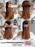 發飾丸子頭水鑚花朵盤發器韓國發帶頭飾造型器百變懶人蓬鬆花苞頭髮飾 衣櫥秘密