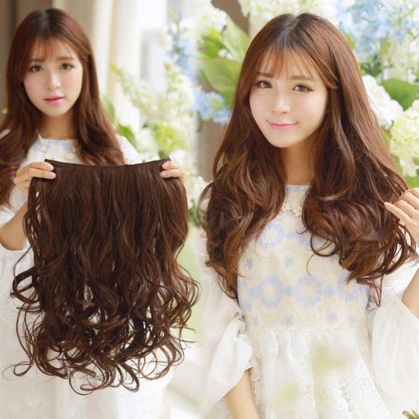 假髮片韓系假髮片一片式假髮片 長髮仿真髮直髮片 加厚假髮捲髮片接片髮