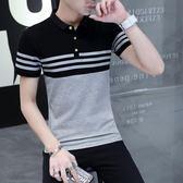 夏季薄款短袖t恤男士polo衫韓版潮流大碼男裝半袖體恤打底衫上衣