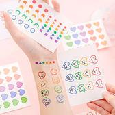 【BlueCat】愛心表情幾何防水紋身貼紙 (4入)